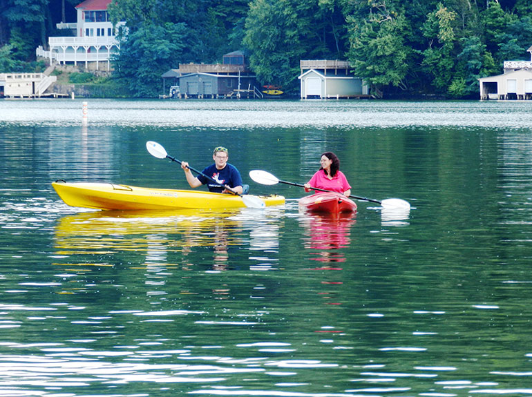 Awesome Kayaking On Lake Lure